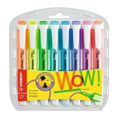 STABILO Swing Cool Highlighter, Wallet of 8 assorted colours