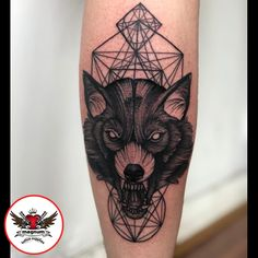 f16788b4f6363 Wolf 🐺 tattoo from Niall Shannon with #magnumtattoosupplies 👊🏽👏🏽👏🏽 #