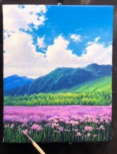 Landscape Drawings, Landscape Art, Landscape Paintings, Art Drawings Beautiful, Cool Art Drawings, Beautiful Paintings Of Nature, Watercolor Art Lessons, Canvas Painting Tutorials, Art Painting Gallery