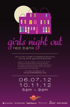 Next Thursday evening! Ladies, leave the kids at home and come to Red Bank for a fun night of shopping, dining, drinking and prize drawings! Go to www.onlyoneredbank.com/calendar for info