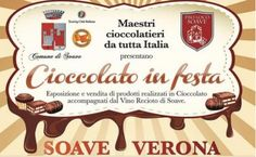 2017 - Cioccolato in Festa- Chocolate Festival, Oct. 6, 6-11 p.m., Oct. 7, 10 a.m.-11 p.m., Oct  9, 9 a.m.-11 p.m., in Soave, Piazza Mercato dei Grani and  Via Roma, about 23 miles west of Vicenza; free chocolate tasting and choco¬late workshops, free jazz and blues con¬certs, chocolate sculptures, exhibits, entertainment for children, and food booths; free entrance.