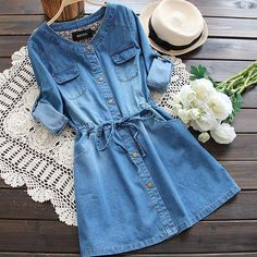 Want this denim dress? in 2020 Want this denim dress? in 2020 Mode Outfits, Trendy Outfits, Jeans Dress, Shirt Dress, Denim Dress Outfit Summer, Denim Dresses, Mode Rockabilly, Womens Denim Dress, Spring Dresses Casual