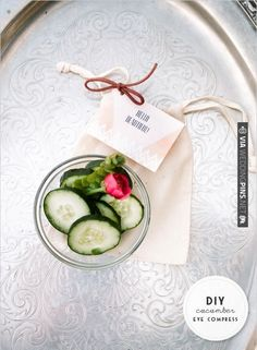 diy cucumber eye compress is so easy and you see such great results | CHECK OUT MORE IDEAS AT WEDDINGPINS.NET | #diyweddings