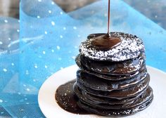 Brownie Batter Pancakes- 130 calories for the entire recipe (minus toppings, of course)