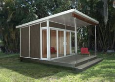 This 10-by-12-foot one is the smallest, and would work wonderfully as a modern garden shed or backyard office. Description from houzz.com. I searched for this on bing.com/images