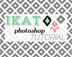 draw your own ikat print in Photoshop