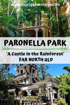 Paronella Park romantic crumbling castle in the rainforest with camping & cabin accommodation. Far North Queensland. Australia Tourism, Queensland Australia, Western Australia, Coast Australia, Australia Day, Usa Travel, Australian Road Trip, Tunnel Of Love, Local Hotels