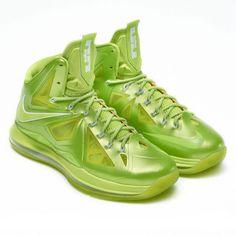 online store 4be2e 1f988 Lebron shoes 2013 Lebron 10 Volt Lime Green Diamond Basketball Sneakers,  Sneakers Nike, Nike