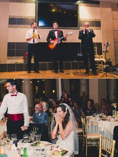 This melts my heart every time! Groom plays a love song for his bride at their wedding reception!