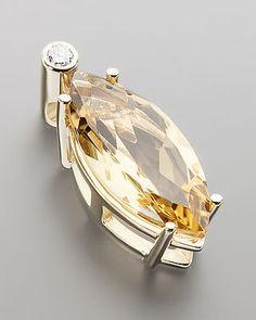 Anhänger mit Brillant und Citrin,  von Sogni d´oro #Sognidoro #sogni #doro #Schmuck #edelsteine #jewelry #gemstones #colors