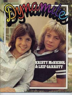 This was the magazine of teens when I grew up.  Here's Christy McNichol and Leif Garrett on the cover of Dynamite, 1979.