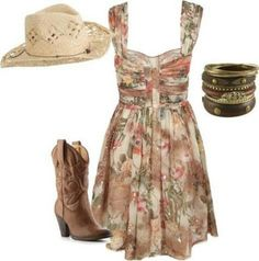 67 ideas for cowboy boats outfit dresses country girls Country Look, Country Girl Style, Country Fashion, Country Girls, My Style, Country Hats, Country Bumpkin, Country Casual, Country Chic