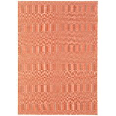 Sloan Hand-Woven Orange Area Rug 60x230cm 150GBP, 120x170 80GBP Material: 55% Cotton and 45% wool