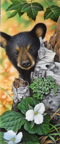 Bear by artist Jerry Gadamus. Don't nou dare be wooking at me - my momma doesn't want anyone wooking at me...