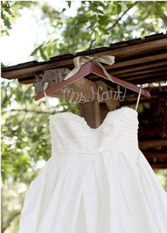 wedding dress hanger,personalized wedding dress wire hanger