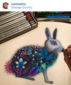25 Best Coloring Rabbit Images On Pinterest Coloring Books