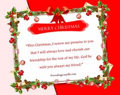 christmas card messages for friends