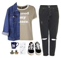 """Space"" by soym ❤ liked on Polyvore featuring Topshop and Vans"