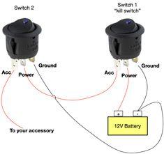 Basic Electrical Wiring, Electrical Circuit Diagram, Electrical Switches, Electrical Projects, Electronics Basics, Electronics Projects, Rv Vehicle, Light Switch Wiring, Boat Wiring