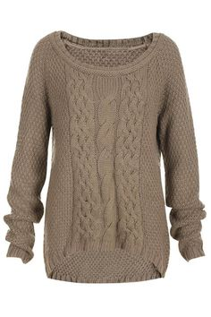 Cable knit sweater...I would love this with velvet skinny pants and black or camel booties!