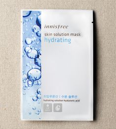 Skin solution mask-hydrating ::An unbleached pure cotton mask with essential moisture-rich hyaluron to moisturize dry skin