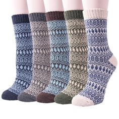 3c8d54ce5ea 5 Pack Womens Thick Warm Comfort Cotton Casual Wool Winter Socks    Check  out this great product.