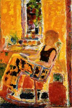 "huariqueje: "" The Rocking Chair - Rafael Wardi, 1978 Finnish Oil on canvas "" Nordic Art, Indie Art, Mellow Yellow, Vincent Van Gogh, Figure Painting, Art And Architecture, My Favorite Color, Pastel Colors, Finland"