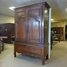 18th Century French Antique Oak Armoire