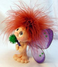 Ooak Polymer Clay Museling Fairy w/ Wand от CanterberryTails