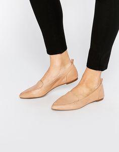 Image 1 ofALDO Bazovica Nude Flat Ballerina Shoes