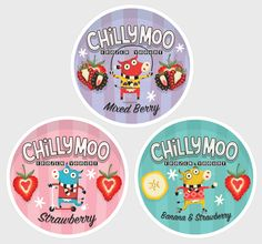 Chilly Moo Packaging by Steve Simpson, via Behance