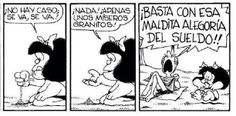 Alegoria del sueldo #mafalda