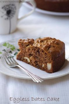 Eggless Dates Cake Recipe - How to Make Eggless Date Cake - Christmas Cake Recipes | Indian Cuisine
