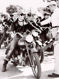 """Arguably the biggest boost for Triumph motorcycles came from Marlon Brando's 1954 movie """"The Wild One."""" Riding his own 1950 Thunderbird, Brando portrayed motorcycle gang member Johnny in the film that started the biker-flick genre."""