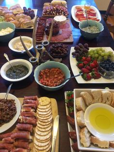 Charcuterie and a build your own bruschetta/crostini bar is perfect and so easy for any party
