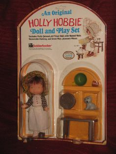 Holly Hobbie Doll Play Set Carrie Knickerbocker #9871 UNUSED ON CARD RARE SEE