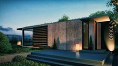 using the structural capacities of a 45 foot shipping container, northern irish architect patrick bradley has presented plans for his new office.