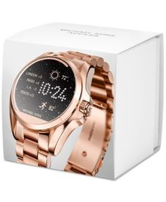 fd9c9f258a5a Michael Kors Access Unisex Digital Bradshaw Rose Gold-Tone Stainless Steel  Bracelet Smart Watch 45mm MKT5004   Reviews - Watches - Jewelry   Watches -  ...