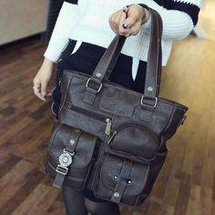 GET $50 NOW | Join RoseGal: Get YOUR $50 NOW!http://www.rosegal.com/shoulder-bags/stitching-pockets-dark-colour-shoulder-765220.html?seid=7227313rg765220