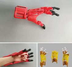 printer design printer projects printer diy Cool Wearables Cool Wearables DIY: Printed Prosthetic Hand you can find similar pins below. 3d Printer Designs, 3d Printer Projects, 3d Projects, 3d Printing Diy, 3d Printing Service, Impression 3d, 3d Printed Robot, Diy 3d, Arte Robot