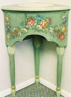 One stroke furniture Decoupage Furniture, Hand Painted Furniture, Funky Furniture, Miniature Furniture, Paint Furniture, Shabby Chic Furniture, Shabby Chic Decor, Furniture Makeover, Vintage Furniture