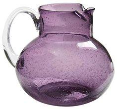 Bubble Glass Purple Pitcher