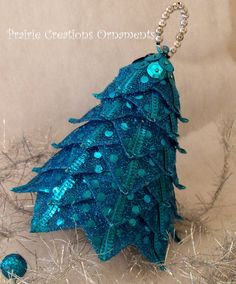 Quilted Ornament Ribbon Tree Christmas Decor by MyPrairieCreations, $18.00