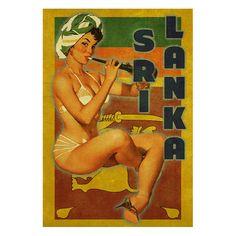 SRI LANKA 1P Handmade Leather Wall Hanging  by PinUpsOnLeather, $29.90