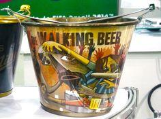 """Balde de gelo """"The Walking Beer"""". Lançado na GIFT FAIR 2014."""