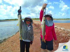 😁😁 Elas sempre sorridentes e alegres pegando uns belos exemplares em @aquafort_hotel! 🎣🐟🐠  @funpesca @fishtvoficial @phofish #aquafort #aquaforthotel #pescaesportiva #fishtv #fishingtrip #fishinglife #fishing #pesca #pescaria #sportfishing #viagemeturismo #fotografia