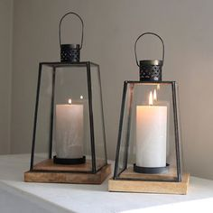 Metal Scandi Lantern - candles & candlesticks