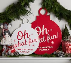 """""""Oh What Fun"""" Ornament Plaque 