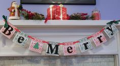 Be Merry Banner/ Christmas Decoration/Be by anyoccasionbanners, $18.00