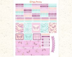 Butterfly Printable Planner Stickers Butterfly by EnjoyPlanning